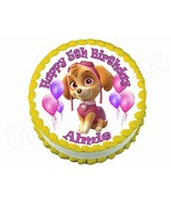 PAW PATROL SKYE round edible party cake topper decoration frosting sheet... - $7.80