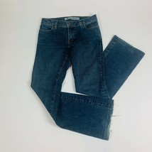 Gap 1969 Womens Jeans 1R Blue Long and Lean Boot Cut Stretch Med Whiskers - $34.19