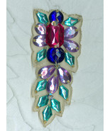 2 Glitzy Rhinestone Trims Clothing Ornament Christmas Home Décor - $9.99