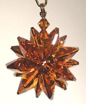 J'Leen Amber Small Suncluster with Austrian Crystal