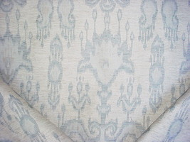 VALDESE WEAVERS BLUE AND GREY SOUTHWEST IKAT DRAPERY UPHOLSTERY FABRIC - $124.74