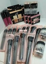 Lot Of 28 Elf products NIB/PACKAGING brushes, Pallets, liquid lipsticks - $90.24