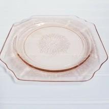 "Vintage • Anchor Hocking 1930s Crystal Pink Princess Salad Plate 8""  - $23.74"