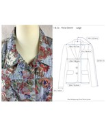 Denim and Co Womans Floral Denim Jacket Size Large - $29.00