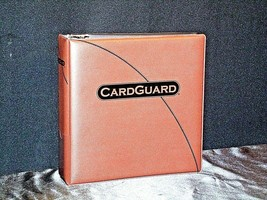 Brown CardGuard 3 Ring Album AA19-1445 Vintage