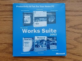 Microsoft Works Suite 2003 PC Photo Editing Research Finance - Dell WITH... - $14.85