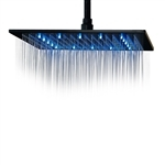 "Primary image for Fontana 16"" Oil Rubbed Bronze Square Color Changing LED Rain Shower Head (Solid"