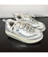 Skechers Shape-Ups women size 8 US,  White/Silver/Baby Blue, toning walking - $25.74