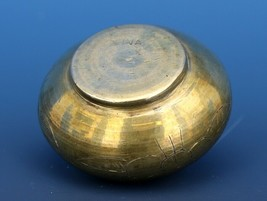 Antique Open Salt Dip Cellar Chinese Export Brass, Cast in  2 Parts image 2
