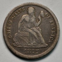 1877CC Silver Seated Dime 10¢ Coin Lot# A670