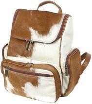 Cowhair Backpack natural leather ladies Genuine Cowhide Weekender Shoulder Bags image 4