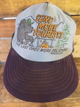 MISSOURI Send More Tourists Last Ones Delicious Trucker Snapback Adult Hat Cap - $53.45