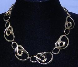 Vintage 1992 AVON Gold Tone Polished Spiral Necklace Choker - $24.75