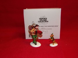 "DEPT 56 CIC ""ONE MAN BAND AND THE DANCING DOG"" - 2-PC.- #58891-LOT-4P - $12.73"