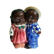 Jay Import African American Americana Kids Girl & Boy Cookie Jar - $169.32