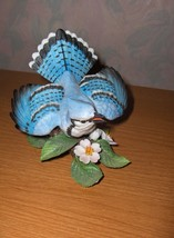 Lenox China Blue Jay Figurine Garden Bird 1986 Box - $65.00
