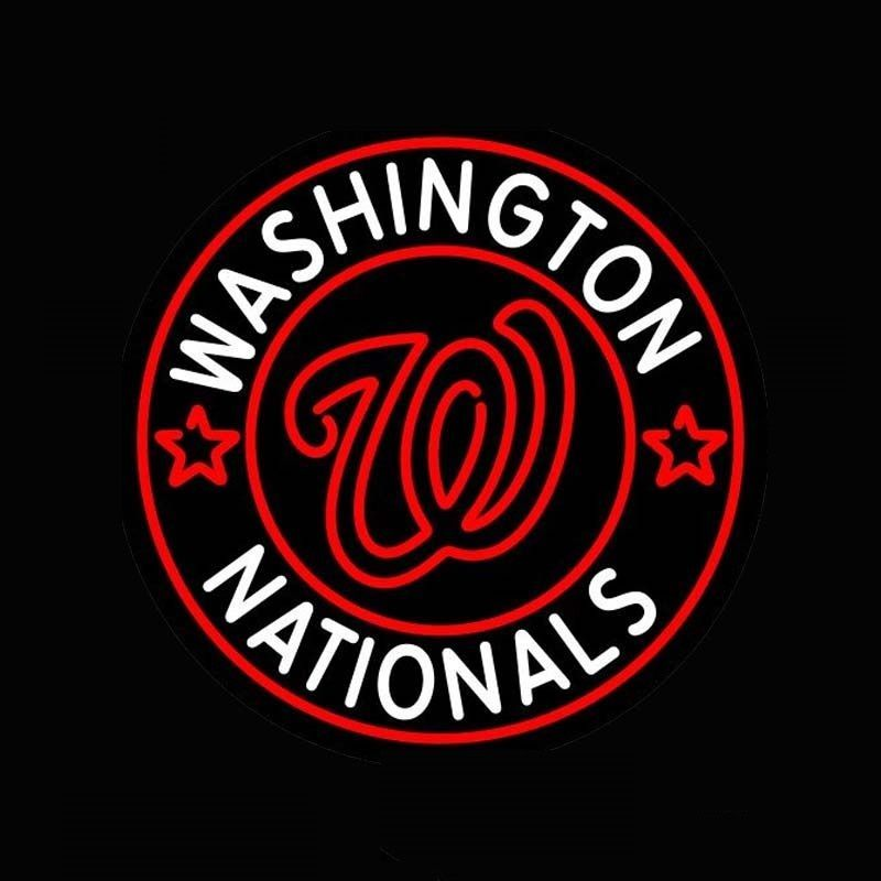 "New Washington Nationals MLB Neon Sign 24""x20"" Ship from USA"