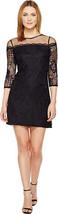Adrianna Papell  Adele Lace Shift Dress, Black Navy, 2 - $118.79