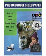 "PPD Inkjet Matte Double Sided Heavyweight Paper 12x12"" 53lbs. 210gsm 9mi... - $39.91"