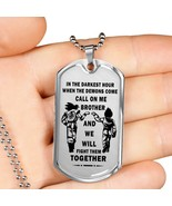 To My Brother Luxury Dog tag Military Ball Chain, Dragon Ball Necklace p... - $42.52+