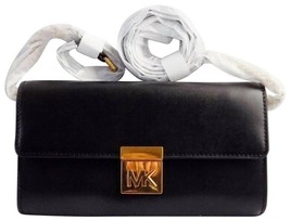 NWT Michael Kors Mindy Crossbody Clutch in Black Leather - $103.34 CAD