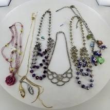 Bulk Lot Vintage Necklaces Wholesale Crystal Silk Iridescent Beads - $88.83