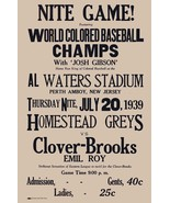 1939 HOMESTEAD GRAYS CLOVER BROOKS 8X10 POSTER  PHOTO BASEBALL PICTURE N... - $3.95