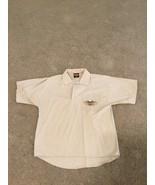 Harley Davidson Mens MD Collared Short Sleeve Shirt Chosa's Tan Eagle Polo - $30.00