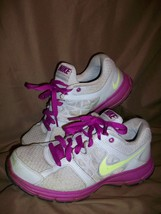 *USED* NIKE RELENTLESS 2 WOMENS SIZE 7.5 RUNNING SHOES GREY PURPLE - $24.74