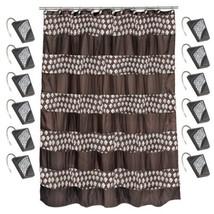 70 x 72 Bathroom Fabric Shower Curtain & Hook Set Popular Bath Sinatra Orb - $38.99