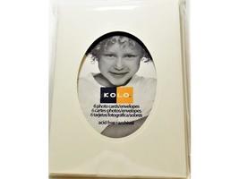Kolo Photo Card Bases with Match Envelopes, Winter White, Set of 6