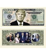 Pack of 25 - Donald Trump 2020 Presidential Re-Election Dollar Bill Chri... - $8.99