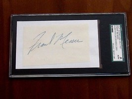 FRANK MESSER YANKEE ANNOUNCER 18 YEARS SIGNED AUTO VINTAGE CUT SGC AUTHE... - $89.09