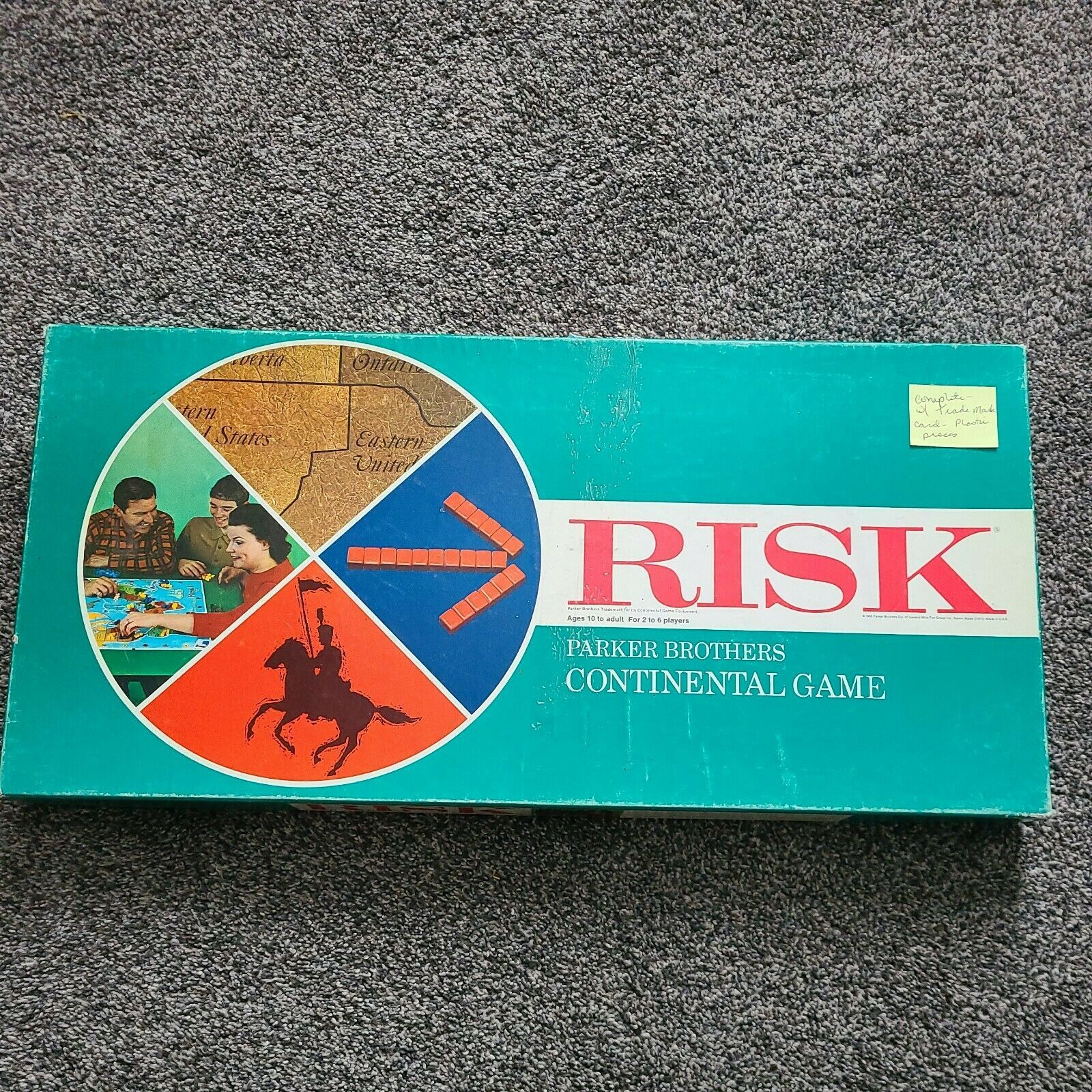 RISK Continental Game PLASTIC PIECES 1968 Parker Brothers 100% COMPLETE! EUC - $49.99