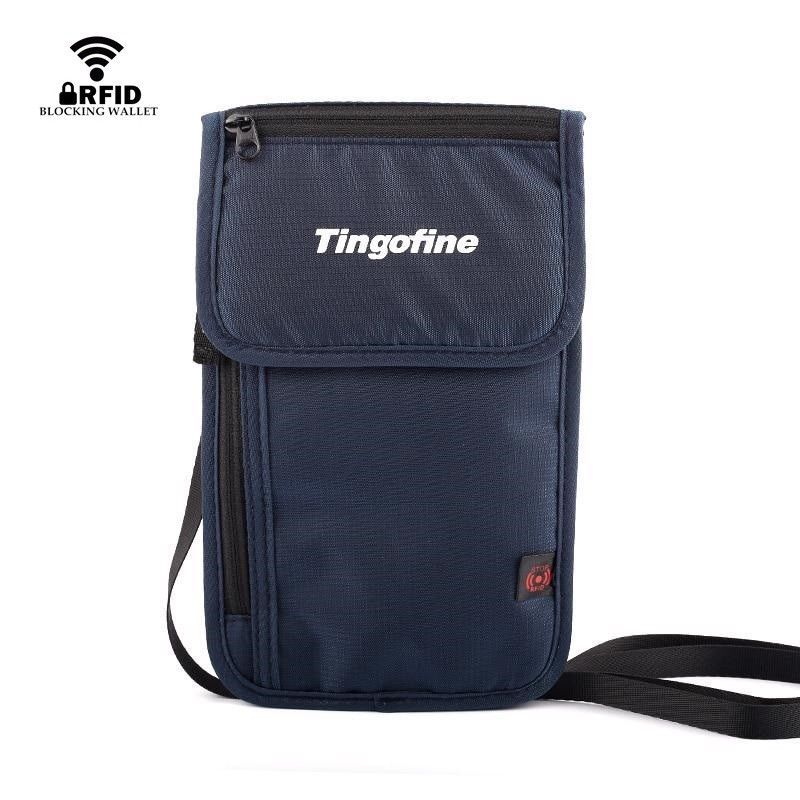 Primary image for Nylon Anti Theft Travel Passport Neck Men Bag RFID Blocking Mini Crossbody Pouch