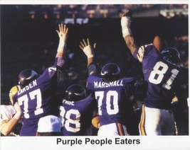 Purple People Eaters 8X10 Photo Minnesota Vikings Picture Game Action - $3.95