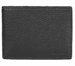 Calvin Klein Ck Men's Leather Bifold Id Wallet Key Chain Set Black 79080 image 2