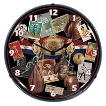 Boxing Early Days Lighted Clock - $129.95