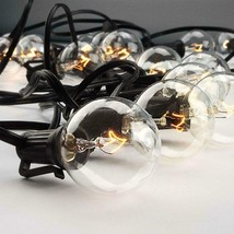 50Ft Outdoor Commercial Globe String Lights 50 Clear Bulbs Patio Deck Ya... - €29,83 EUR