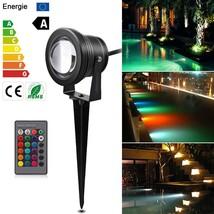 10W RGB Garden Light Waterproof Outdoor Lighting RGB LED Lawn Light Remo... - €12,78 EUR