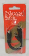 Hosa Technology YRA105 Mono Y Cable One Female RCA Plug To Two Male Jacks - $5.99