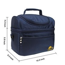 EMANIS Insulated Lunch Box Cooler Bag Tote shoulder with Zip Closure - $26.82