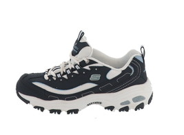 Skechers D'Lites Lace-Up Padded Sneakers Biggest Fan Navy 6M NEW A349783 - $55.42