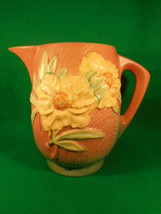 "Vintage Roseville Peony Pink and Yellow Beverage Water Pitcher 1326-7 1/2"" - $371.25"