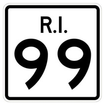 Rhode Island State Road 99 Sticker R4235 Highway Sign Road Sign Decal - $1.45+
