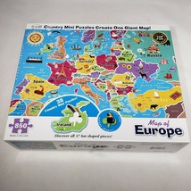 Map of Europe Jigsaw Puzzle 850 Piece Re-Marks Hidden Shapes Unique 2 mi... - $25.95