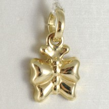 Yellow Gold Pendant 750 18k, Butterfly Domed, Pendant, Length 1.8 CM image 1