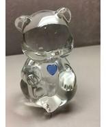Fenton Crystal Swarovski Sapphire Blue Heart BIRTHSTONE BEAR September B... - €18,14 EUR