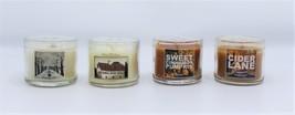 4 Bath & Body Works Mini Candles Sweet Cinnamon Pumpkin Winter Nutmeg Ci... - $19.99