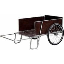 Garden Dump Cart 2 Wheel Steel Handles Wooden Bed Outdoor Tow Yard Wheel... - $196.01